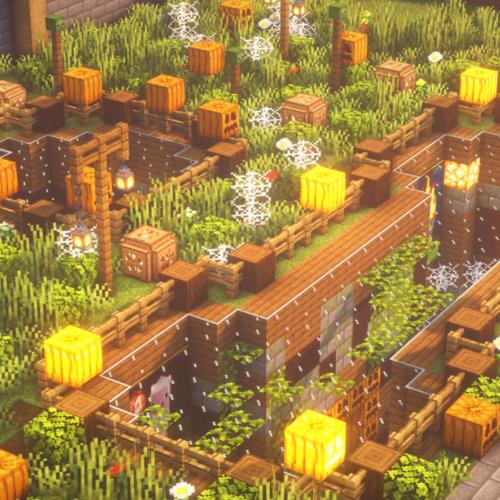 【マイクラ建築】地下拠点をハロウィン仕様にすると良い感じになった【Minecraft】