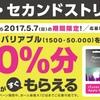 ゲオ・セカンドストリートでiTunesカード10%増量キャンペーン開催中 (2017年5月7日まで)