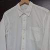 無印良品の名品    超長綿洗いざらしブロードシャツ