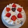 12月、朝ごはんにカルピスクリームのショートケーキ
