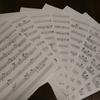 新曲の楽譜が仕上がりました!