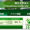福島大学、電力使用量95%。学内通達もあり。