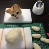 猫人形作り(茶白)⑨