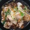 肉野菜そば 490円 を食べて、 野菜不足を解消する。 at ゆで太郎_池袋2丁目店
