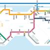 四国と首都圏の鉄道路線図を比較したら