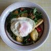 49冊目『このひと皿でパーフェクト、パワーサラダ』から5回めは厚揚げと揚げ卵のサラダ