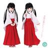 45cmコレクション『ロング丈巫女服セット ホワイト×レッド 』『巫女草履』1/3 ドール服【アゾン】より2020年9月発売予定☆
