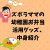 ズボラママの幼稚園お弁当 活用グッズ、中身紹介
