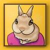 ウサギの似顔絵サンプル