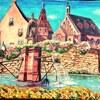 ペン画小話その7・水のある風景アルザス