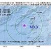 2017年10月05日 09時42分 東海道南方沖でM3.3の地震