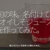 994食目「旬の味。名付けて[ オイしそジュース ]を作ってみた。」赤じそジュースを作って飲んでみた。
