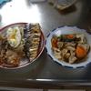 幸運な病のレシピ( 515 ) 昼:煮しめ、塩サバ