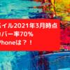 楽天モバイル2021年3月時点で人口カバー率70%んで。。。