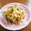 蕪菜とパプリカのカラフル炒飯