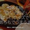 424食目「博多名物『鉄なべ餃子』は一口サイズであちちでうまうま」鉄なべの餃子を食べに行った!