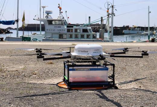 とれたてのカツオが空から届く!和歌山県すさみ町の漁港からドローンでの運搬に成功