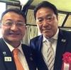 参与を務めている、黒滝幼稚園の入園式に来賓で参加しました。横浜FC会長の奥寺康彦さんとご一緒しました。