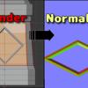 【Blender】UV mapの一部にだけNormal mapを適用する方法