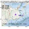 2017年10月02日 04時40分 根室地方中部でM3.5の地震