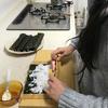 娘と巻き寿司作り