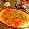 鉄板焦がしチーズとろ卵うどんナポリタン
