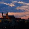 プラハ城の夕焼け