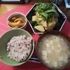 サバじゃが、玉ねぎ醤油漬け、大根と雑穀の味噌汁、雑穀米