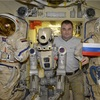 Russia's humanoid robot Skybot is on its way home after a two-week stay in space