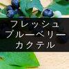 フレッシュなブルーベリーを使ったカクテルレシピ4種【自宅で簡単】