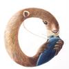 水彩画「Otter / Ocarinist」