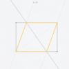 Euclidea 1.5 長方形に内接するひし形の作図 解説
