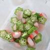「オクラとカニカマと新生姜の和物」レシピ