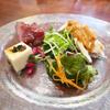 前菜の自家製チャーシューと棒棒鶏がいつ来ても美味な香蔵@鹿児島市和田