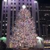 ロックフェラーセンターのクリスマスツリー。
