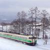 銀雪のしなの鉄道撮影(2):黒姫~古間,川原踏切と「定番」で初代長野色を撮る。