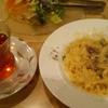 柏崎市の洋食店「ビストロクーマカッツ」平麺のカルボナーラ