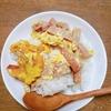 スパムの卵とじ飯(*'ω'*)