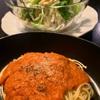 今日の晩ご飯☆トマトソースパスタ