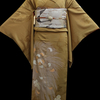 乱菊色留袖×茶系鳥と森現代袋帯