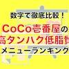 【ダイエット向け】数字で徹底比較|CoCo壱番屋(ココイチ)の高タンパク低脂質メニューランキング