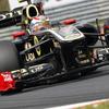 F1第11戦ハンガリーGP、V.ペトロフ、12位。 N .ハイドフェルドは惜しくもリタイヤ。