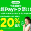 平成最後の超Payトク祭。LINE PayでAmazonギフト券チャージを行いました。