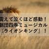 震えて泣くほど感動!!劇団四季ミュージカル『ライオンキング』!!
