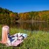 長野県のとある湖で、紅葉とドール撮影(^ω^)