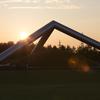 公園の夕日