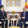 カンボジアの副首相兼経済財務大臣への表敬訪問が複数のメディアで取り上げられました。