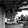 構造物 吊り橋 底部分 木場公園大橋