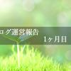 ブログ運営報告【1ヶ月目】
