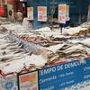 ポルトガルのスーパー海鮮売り場の広さ